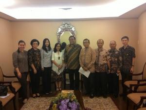 Pertemuan dengan menteri perdagangan (rahmat gobel)